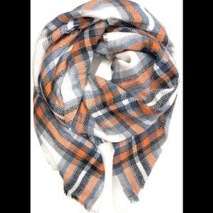 Accessories - Orange & Blue Blanket Scarf